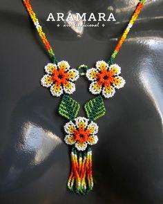 Huichol Jewelry set Huichol necklace Huichol earrings | Etsy
