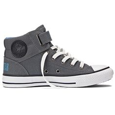 grey high top converse w/buckle Converse All Star, Grey High Top Converse, Converse Style, Converse Shoes, Men's Shoes, Converse Chuck, Dream Shoes, Crazy Shoes, Me Too Shoes