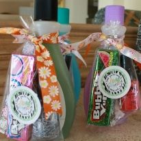 Cute idea for preteen/teen girl birthday party favors. Put a nail polish, clipper, emery board, etc in there!!