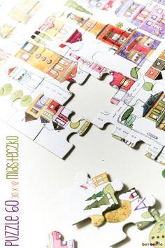 Puzzle miasteczko (proj. bamboletto)