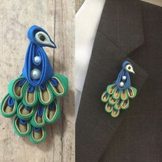 Created something unique with technique of tsumami kanzashi.  Love this peacock pin