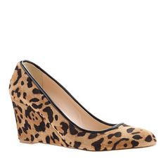 shoes, fashion shoe, style, animal prints, hair wedg, calf hair, jcrew, leopard, calves