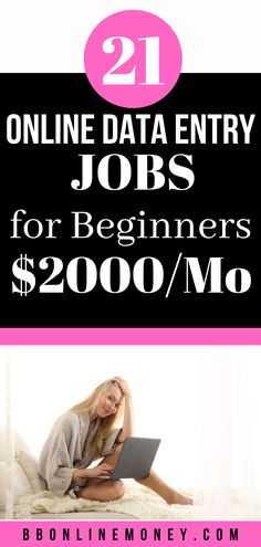 Looking for ways to make money from home? Here's an awesome list of data entry online jobs you can check and start making money fast. #dataentryjobs #onlinejobs
