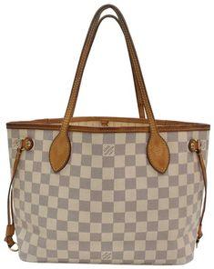 85cecf7c9 Louis Vuitton Neverfull Damier Azur Pm 867625 White Coated Canvas Shoulder  Bag 21% off retail