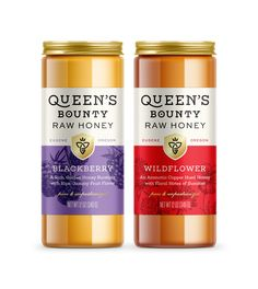 work Queen's Bounty — Hampton Hargreaves / Design for Print, Packaging and Interactive Your Guide to Rice Packaging, Honey Packaging, Food Packaging Design, Bottle Packaging, Brand Packaging, Packaging Stickers, Jar Labels, Food Labels, Acerola