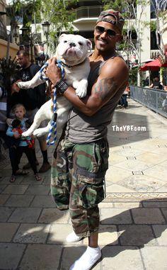 Shemar Moore Brings His Dog To Work
