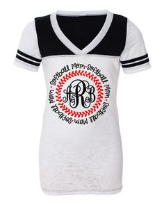 78934eda6 Personalized MONOGRAMMED SOFTBALL MOM Shirt- Feminine Fit, Super Cute! on  Etsy, $29.99