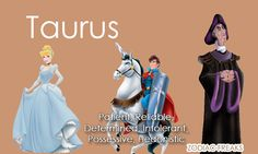 Zodiac signs as Disney heroines, heroes, and villains