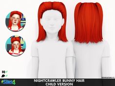 NIGHTCRAWLER BUNNY HAIR T C at REDHEADSIMS – Coupure Electrique • Sims 4 Updates