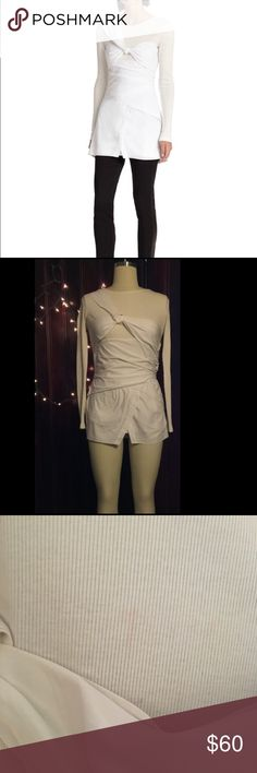 Thakoon Long White Layered Blouse **Re-Posh** Great condition! Just Dry cleaned it!  Only small very faint not noticeable red mark on front of shirt (See photo)   Has a side zip and easy to get in and out of Doesn't work for me because my chest is too big! (I am a 34 D)  Size 6 and rest fits true to size better for C and lower chest   29' inch length  Super cute dressy twist to dress up a casual look!   Smoke and pet free home! Thakoon Tops Blouses