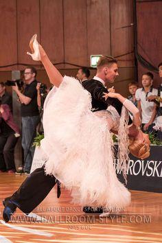 2015 GOC – Standard –White fuzzy ballroom dress #dancesport #dance #ballroom