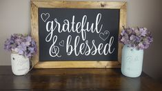 Inspirational Chalkboard Quotes, Farmhouse Signs, Farmhouse Decor, Blessed Sign, Barn Wood Crafts, Home Decor Inspiration, Decor Ideas, Decorating Ideas, Craft Ideas