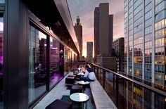 Rooftop Bar Terrace. Gansevoort Park Av. NYC
