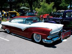 A lot of custom on this 55 Ford Fairlane. She's a sweet ride!