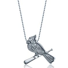 St. Louis Cardinals Little MLB Necklace Diamond Pave by Alex Woo - MLB.com Shop