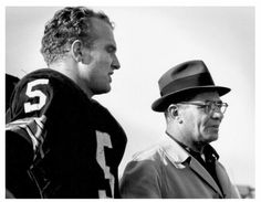 Paul Hornung and Coach Vince Lombardi