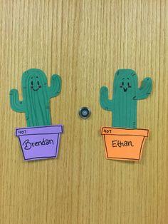 Cactus door decs #reslife More