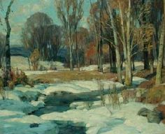 """""""March Morning,"""" John Fabian Carlson, oil on canvas, 25 x 30 1/8"""", private collection."""