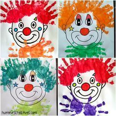Timestamps DIY night light DIY colorful garland Cool epoxy resin projects Creative and easy crafts Plastic straw reusing ------. Circus Theme Crafts, Clown Crafts, Carnival Crafts, Circus Art, Toddler Art, Toddler Crafts, Crafts For Kids, Arts And Crafts, Daycare Crafts