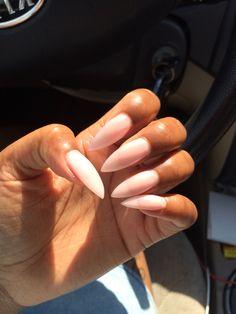 Subtle stiletto nails