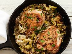 Skillet Chicken Thighs With Cabbage and Quinoa