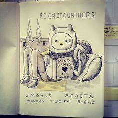 Reign of Gunters promo art by Jesse Moynihan
