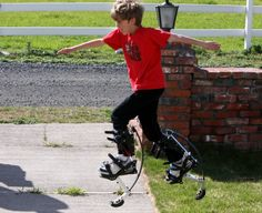 Air-Trekker Jumping Stilts for Kids: Run with Stride. Air Trekkers, Jumping Stilts, Outdoor Life, Boats, Lab, Photo Galleries, Sporty, Tech, Camping