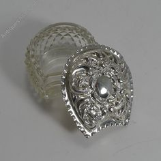 Antiques Atlas - Cut Crystal And Sterling Silver Equestrian Box