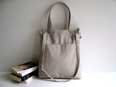 Other – Simply Tote Bag in Khaki - unisex - – a unique product by bayanhippo on DaWanda