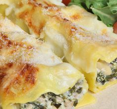 Spinach and Feta Crepes