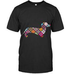 Floral Dachshund Sausage Dog Graphic Mandala Tee T Shirt Dachshund, Sausage, Mandala, Guy, Tees, Mens Tops, T Shirt, Floral, Fashion