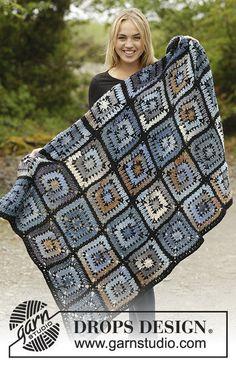 Crochet Turn Around Wool Afghan/Blanket with Squares, Custom Order, Handmade by Silkwithasizzle on Etsy