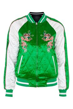 Two-In-One Reversible Sateen Bomber Jacket