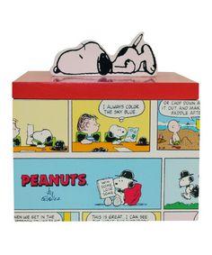 Look at this #zulilyfind! Peanuts Comics Wooden Trinket/Jewelry Box #zulilyfinds