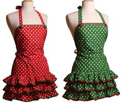Thinking i might cook more if i had a fun apron? Always loved dress up!!  Flirty Aprons Holiday Aprons Sale = 70% off! {thru 12/17} #aprons