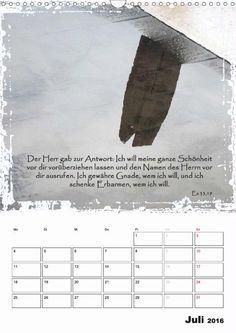 Kalender - Christliche Monatssprüche - Juli