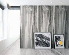 York Wallcoverings Urban Chic Jackson x Wall Mural Color: Off-White/Black/Blue Embossed Wallpaper, Wallpaper Panels, Cool Wallpaper, Marble Interior, Jackson, Urban Chic, Beautiful Wall, Decoration, Wall Design