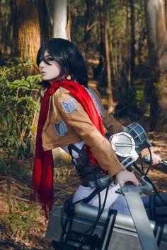 Giu Helsing as Mikasa : ShingekiNoKyojin