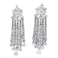Fabulous Diamond Waterfall  Earrings