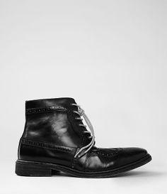 Sigurd Boot in black leather - AllSaints