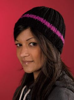 simple ribbed beanie knitting pattern