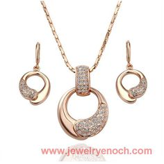 bridal gold plated jewelry set