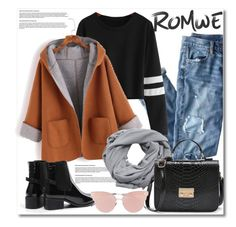 """""""Romwe"""" by aida-nurkovic ❤ liked on Polyvore featuring J.Crew, MANGO and So.Ya"""