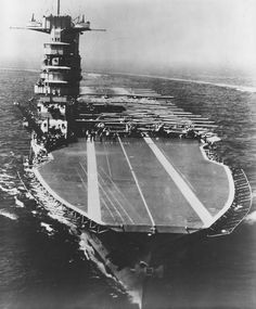 USS SARATOGA (CV-3) Lexington Class Aircraft Carrier prepares to pass in review for President Franklin D. Roosevelt, 31 May 1934