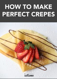 Making perfect crepes is easier than you think! Click through for an easy crepe recipe and to learn how to use a crepe maker. #itsalwaysautumn #crepes #creperecipe