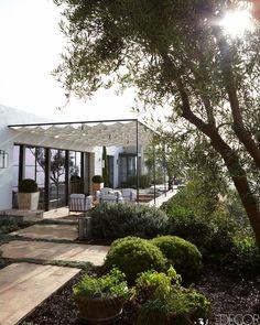 Coastal California Pergola - M. Elle Design California Home - ELLE DECOR