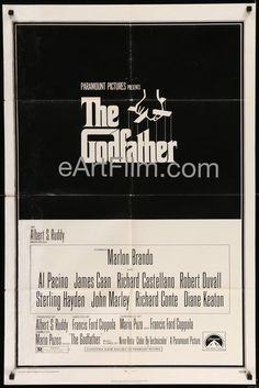 Godfather-1972-27x41-Francis Ford Coppola-Marlon Brando-Al Pacino-Diane Keaton