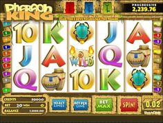 Play the Pharaoh King video slot game for money, or completely free at 1OnlineCasino.com