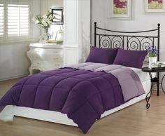 Chezmoi Collection 2-Piece Purple Lilac Super Soft Goose Down Alternative Reversible Comforter Set, Twin/Twin X-Large Chezmoi Collection http://www.amazon.com/dp/B00725TTZI/ref=cm_sw_r_pi_dp_3UDbub02BXSMS