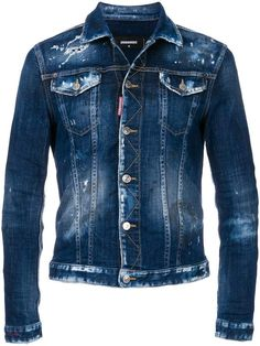 Shop online blue fitted denim jacket as well as new season, new arrivals daily. Milan Fashion, High Fashion, Mens Fashion, Denim Jacket Men, Denim Jackets, Love Jeans, Slim Jeans, Men's Jeans, Casual Styles
